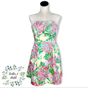 LILLY PULITZER Blossom Maripose Strapless Dress